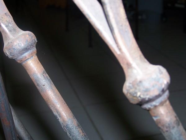 Détail du Modèle Gothique en fer forgé.