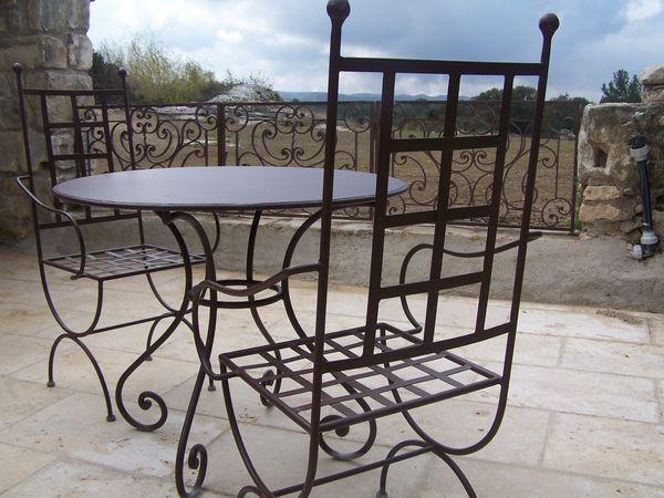 Table et Chaise Plâtrière