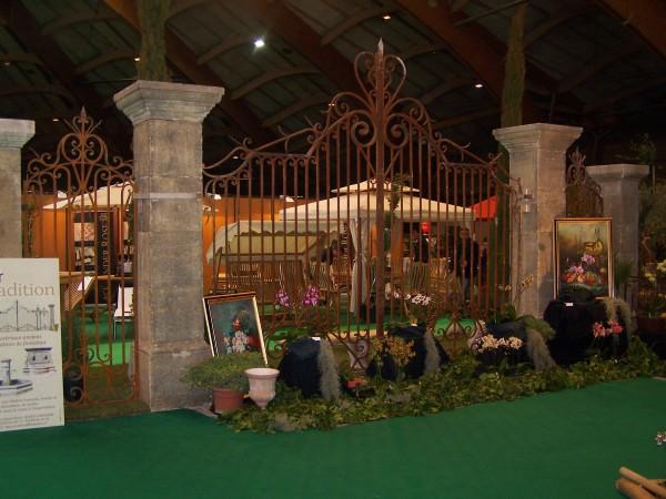 portail d'exposition réalisé pour une foire de l'habitat